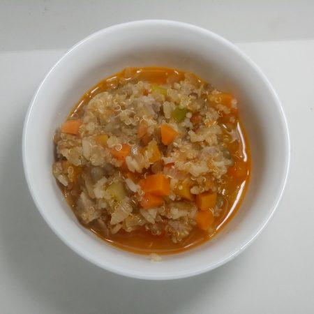 guiso de quinoa y lenteja