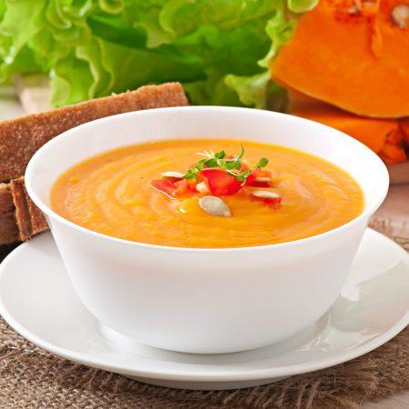 sopa cremosa de calabacin